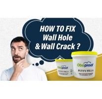 How to fix wall hole & wall crack ?